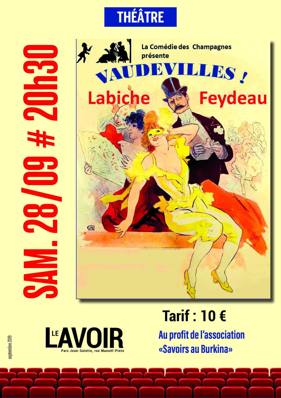 Cormontreuil affiche théâtre Vaudevilles 28 septembre 2019 20h30 Le Lavoir