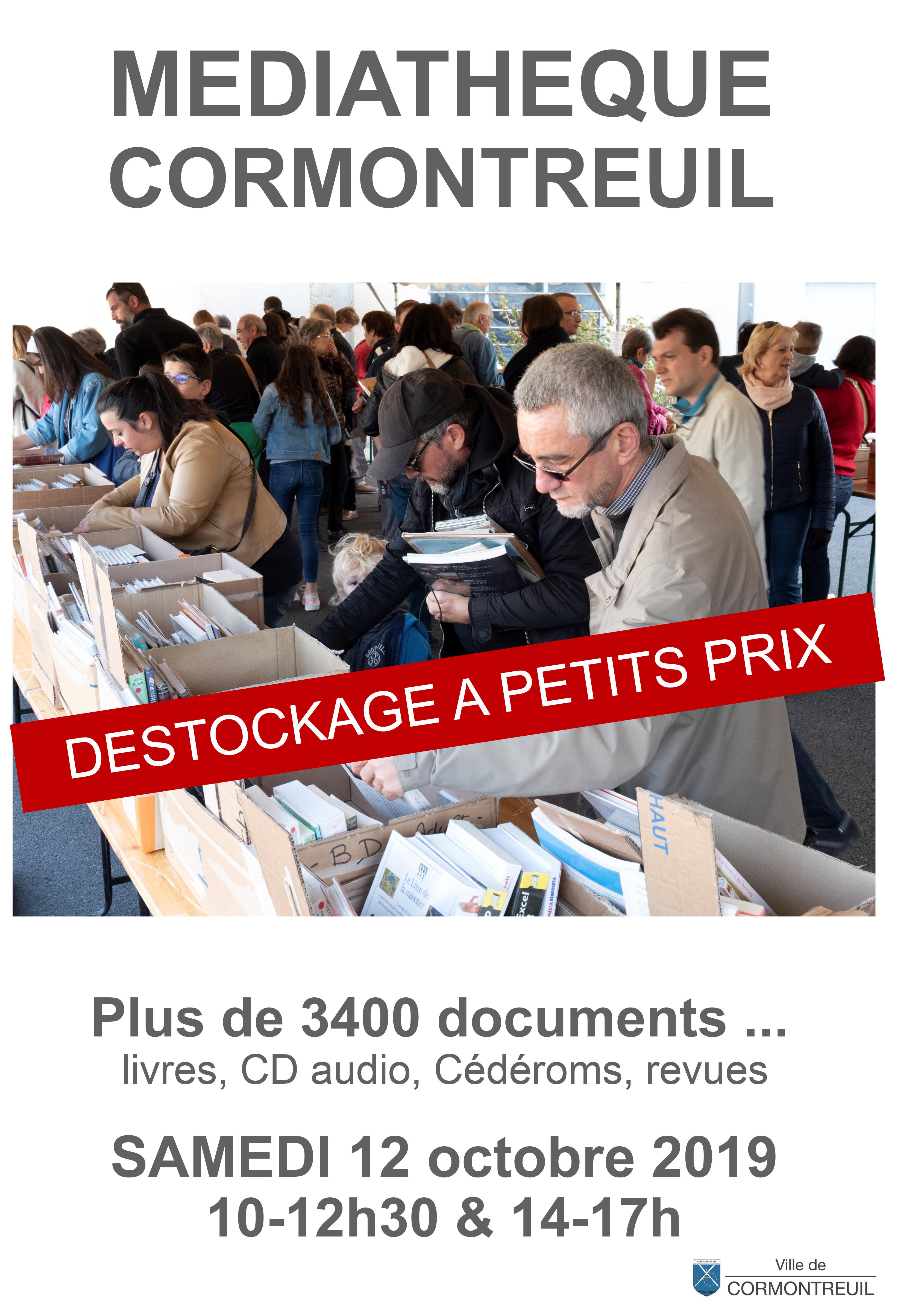 Cormontreuil déstockage vente médiathèque 12 octobre 2019