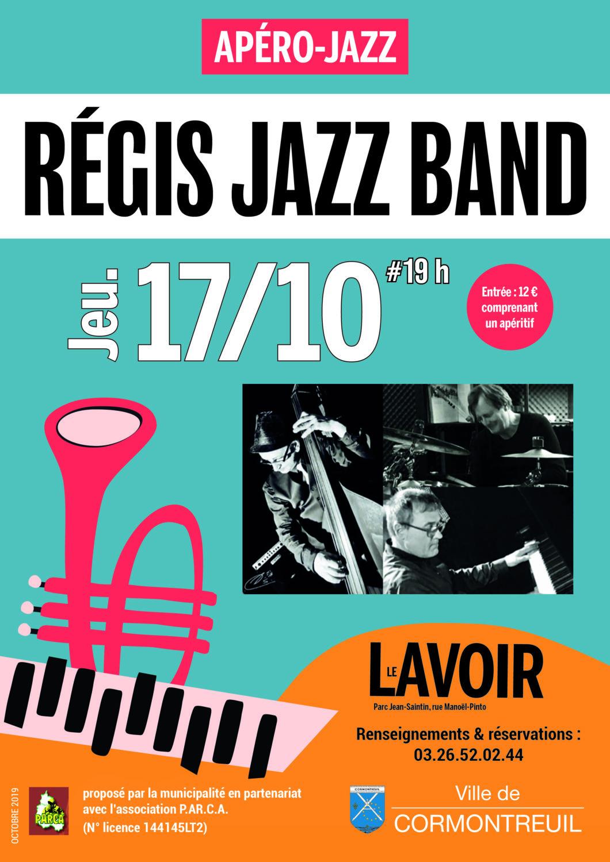 Cormontreuil apéro jazz Régis Jazz Band 17 octobre 2019 19h Le Lavoir