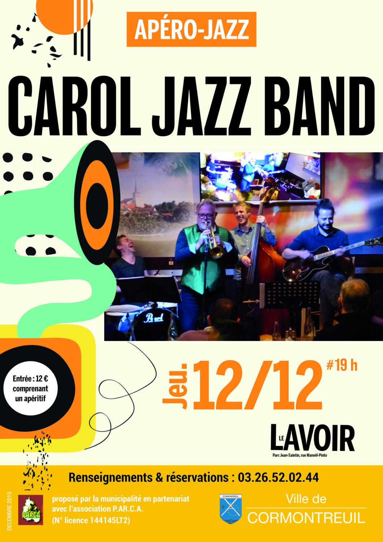 Cormontreuil apéro jazz Carol Jazz Band 12 décembre 2019 19h Le Lavoir