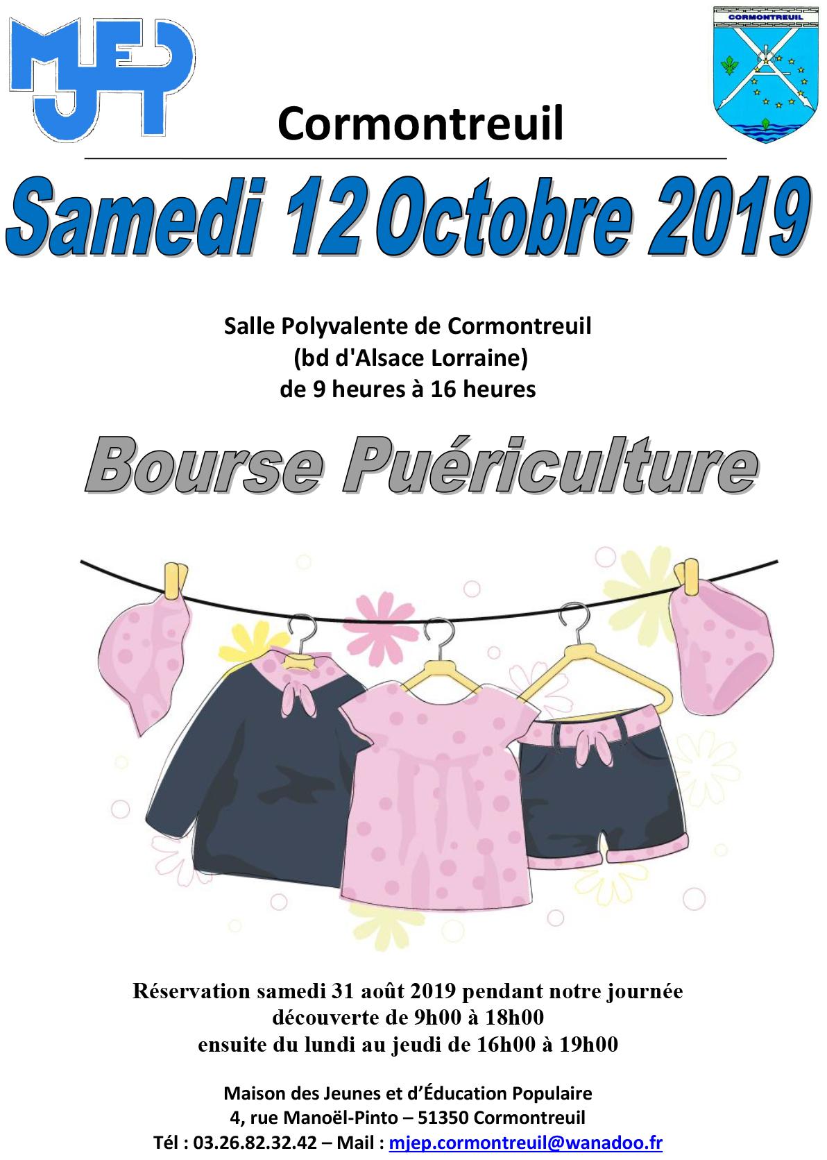 Cormontreuil 12 octobre 2019 salle polyvalente bourse puériculture