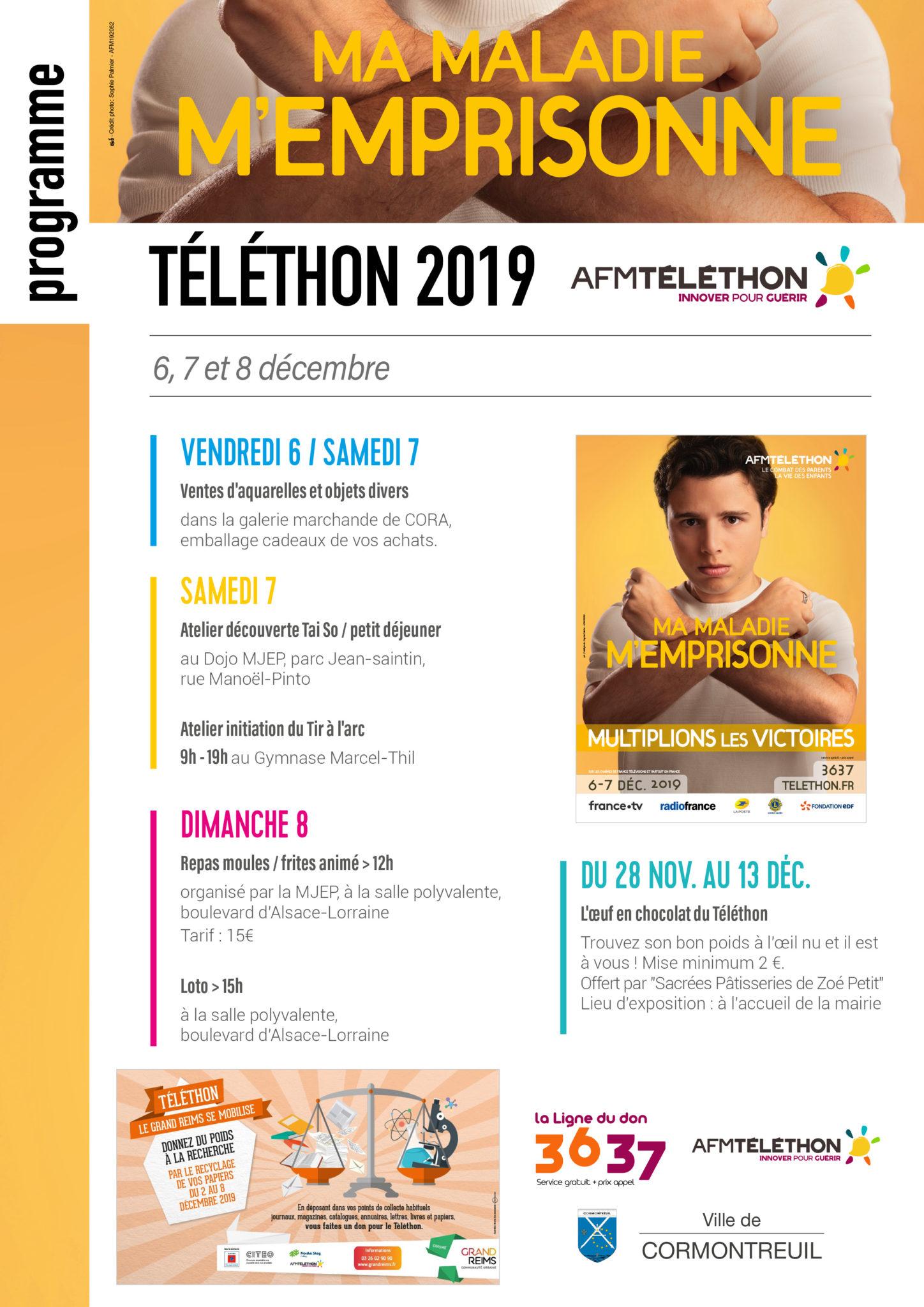 Cormontreuil programme Téléthon décembre 2019 page Blic