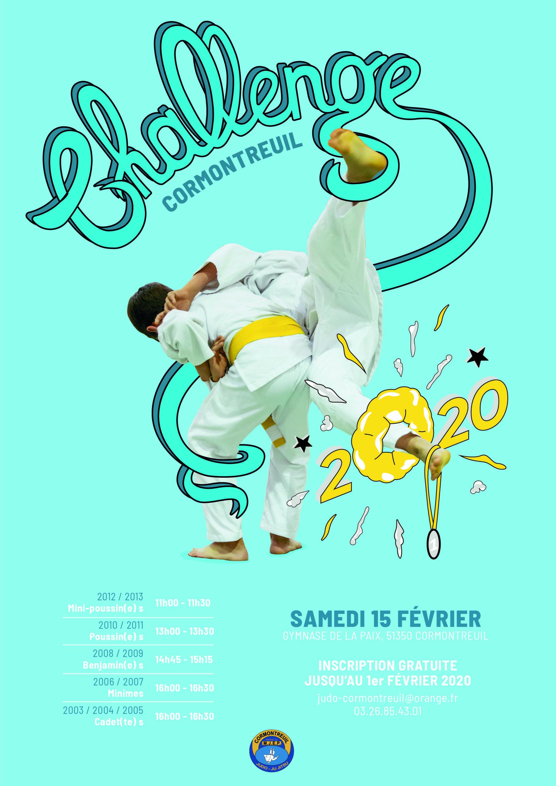 Cormontreuil Challenge Judo 2020 15 février 2020 gymnase de la paix