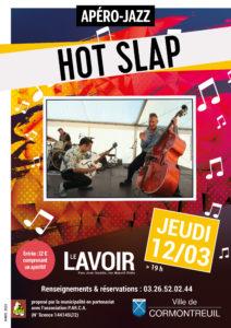 Cormontreuil affiche apéro jazz Hot Slap jeudi 12 mars 2020 19h Le Lavoir