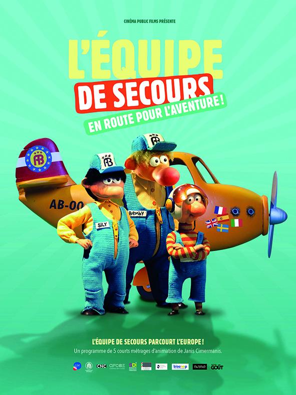 L'équipe de secours en route pour l'aventure programme courts métrages animation