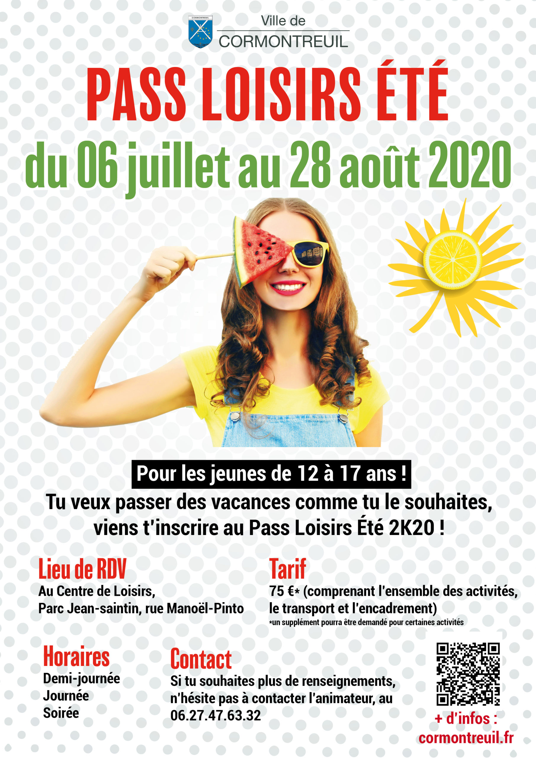 Vacances d'été 2020 Mairie de Cormontreuil